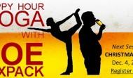 Happy Hour Yoga: Holiday Edition on Dec. 4