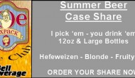 Joe Sixpack's Case Club: Summer selection